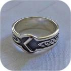 Серебряное кольцо с руной «Кеназ»