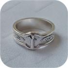 Серебряное кольцо с руной «Наутиз»