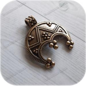 Оберег «Лунница Равновесия» (латунь/серебро)