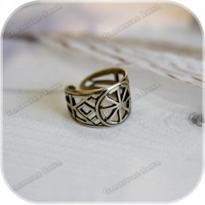Перстень «Колядник» (латунь/серебро)