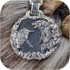 Богатырский серебряный оберег «Медведь и Бык»