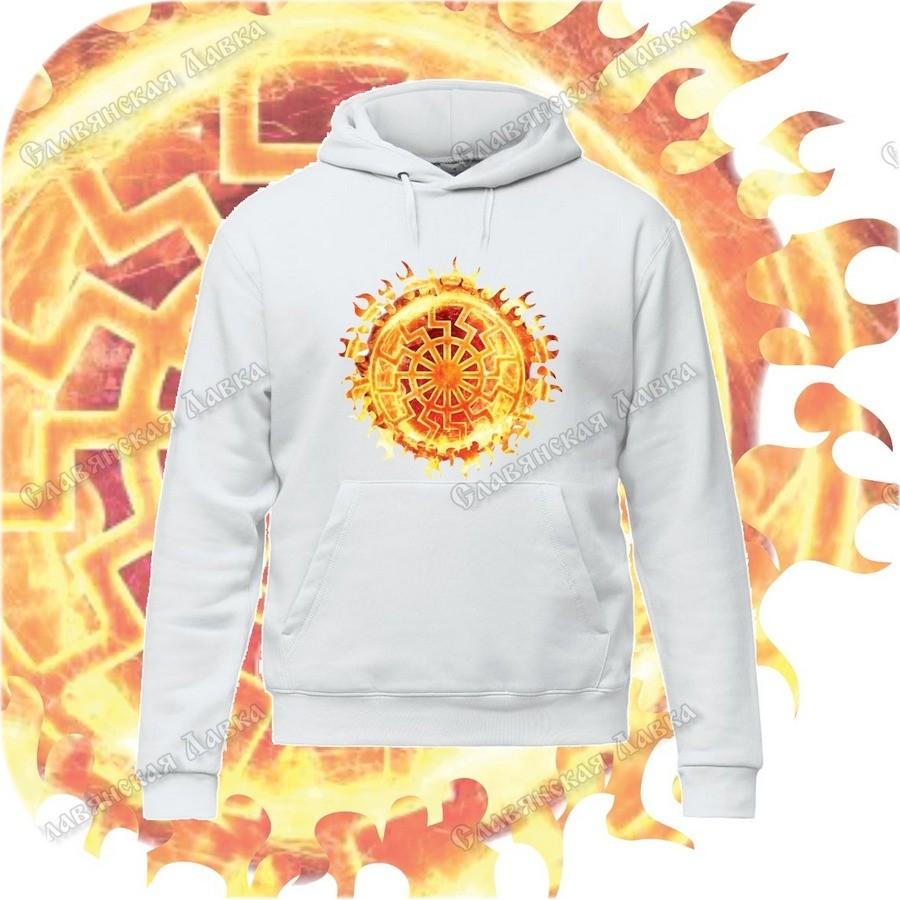 Толстовка с капюшоном «Пылающее Чёрное Солнце»