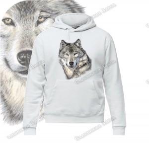 Толстовка с капюшоном «Волк»