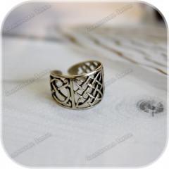 Перстень «Квадрат Сварога» (латунь/серебро)