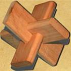 Головоломка из дерева «Крест»