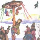 Забава на праздник «Лазанье по столбу за подарком» (видео)