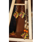 Комплект «Этнический» (подвеска и серьги)