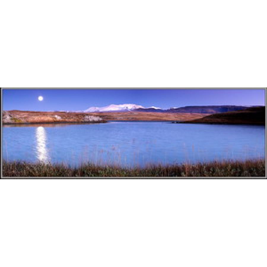Лунная ночь на Ак-Алахе. Укок. Алтай.