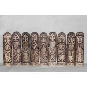 Средний Пантеон Богов Русов (9 кумиров, упрощённый)
