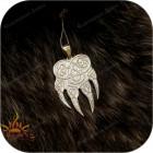 Большой серебряный кулон «Волк»