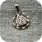 Кулон из серебра «Валькнут» малый
