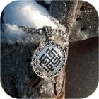 Кулон из серебра с орнаментом «Сварожич»