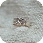 Серебряное кольцо с руной «Райдо»