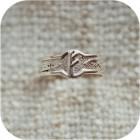 Серебряное кольцо с руной «Феху»