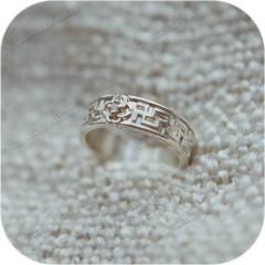 Серебряное кольцо «Свадебник» (по акции, размеры 17 и 20)