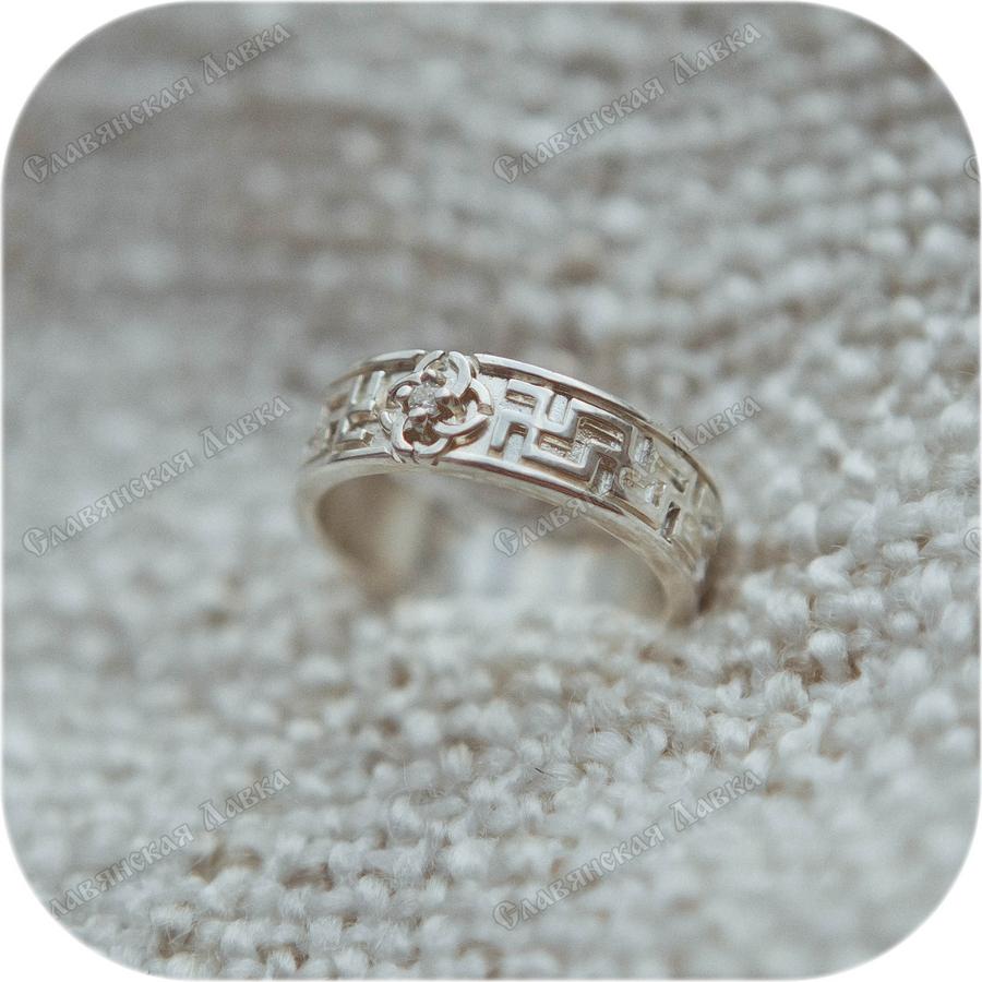 Серебряное кольцо «Свадебник»
