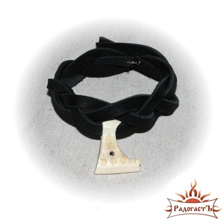 Кожаный браслет «Секира Перуна»