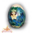 Деревянное яйцо с росписью
