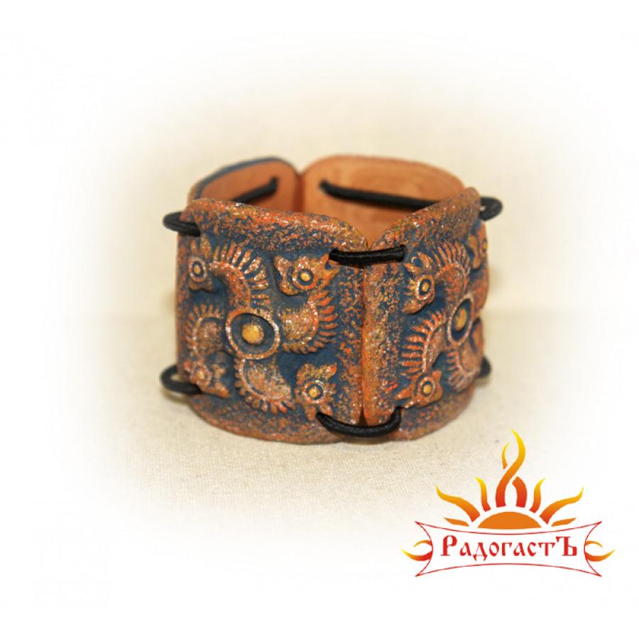 Браслет «Сегнерово колесо» керамика