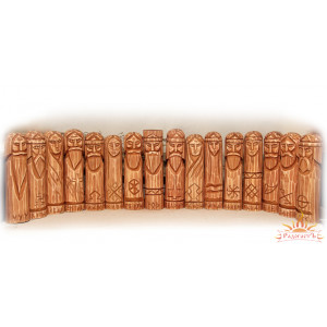 Средний пантеон славянских богов (16 кумиров, упрощённый)