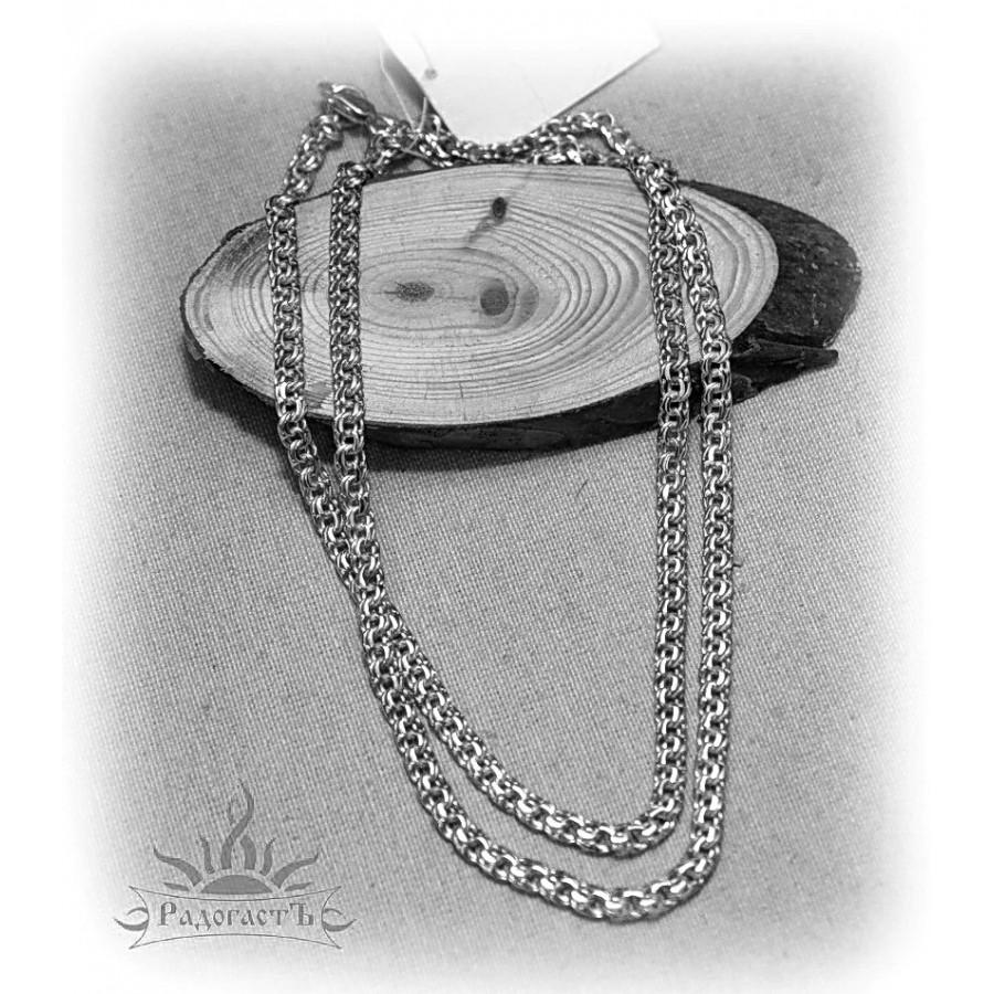 Цепь серебряная, плетение «Ручеек»