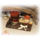 Подсвечник со свечой «Лесной»