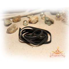 Шнур кожаный черный