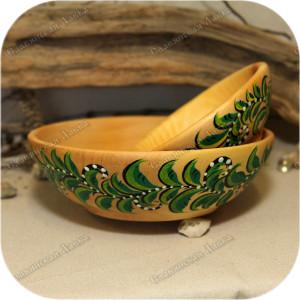 Тарелка и пиала «Растительная роспись»