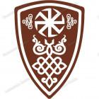 Славянская наклейка «Щит Перуна»