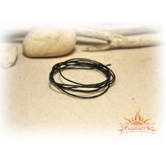 Шнурок вощёный чёрный