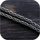 Цепь серебряная, плетение «Лисий Хвост»