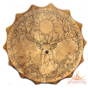 Алтайский шаманский бубен «Проводник»