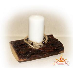 Подсвечник со свечой «Этнический»