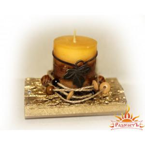 Подсвечник со свечой «Осенний»