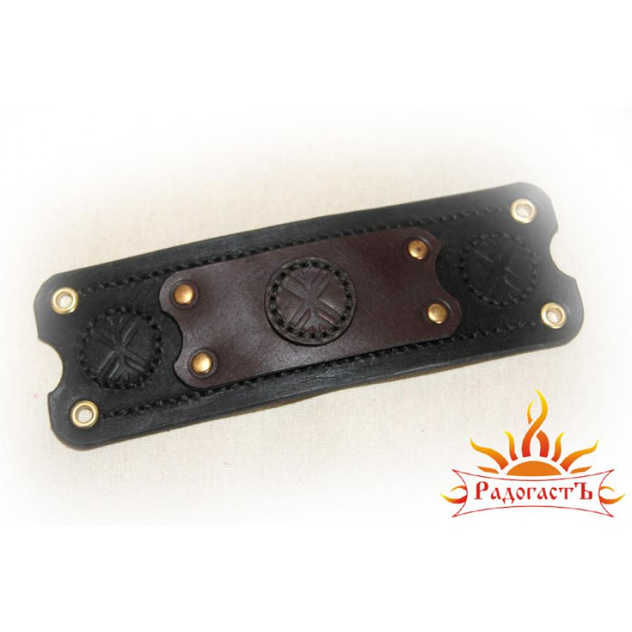 Кожаный браслет «Руна Рок»