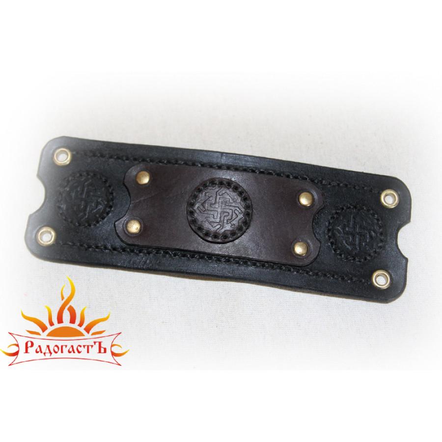 Кожаный браслет «Валькирия»