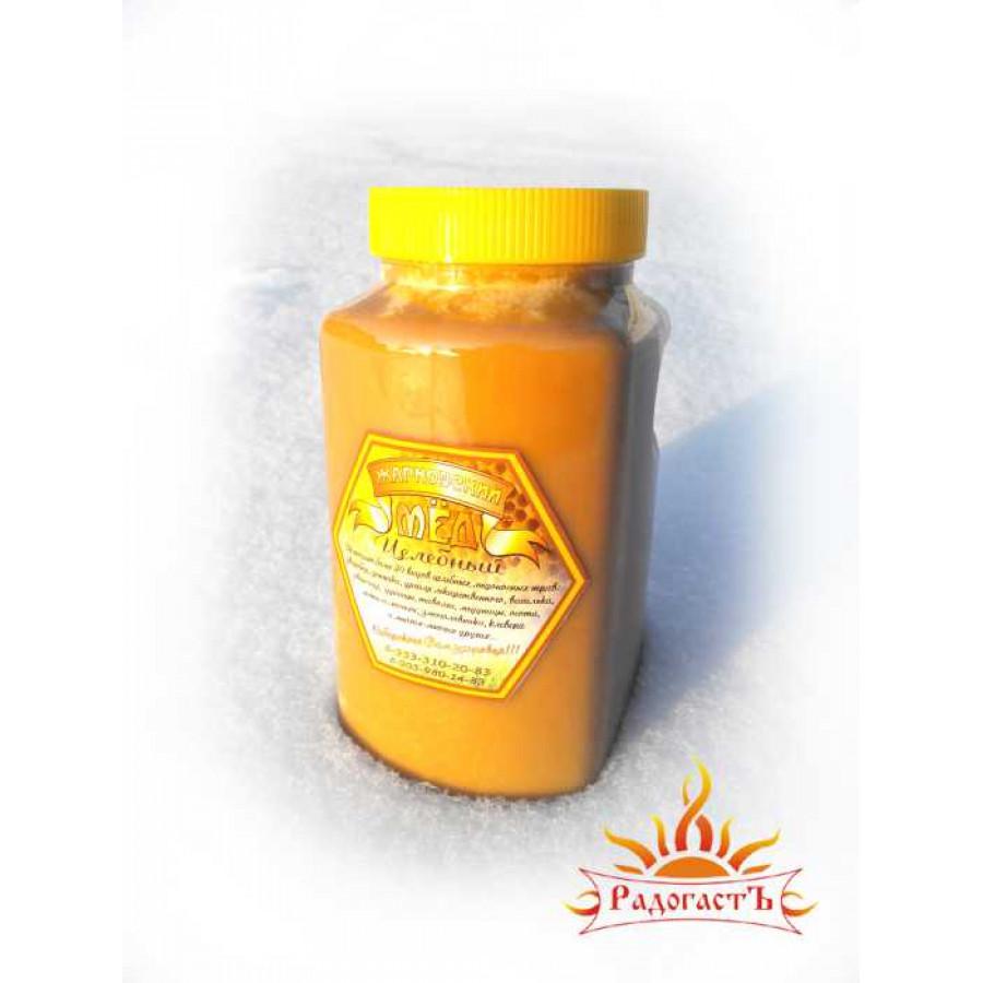 Мед цветочный «Целебное разнотравье Алтая» 2 кг.