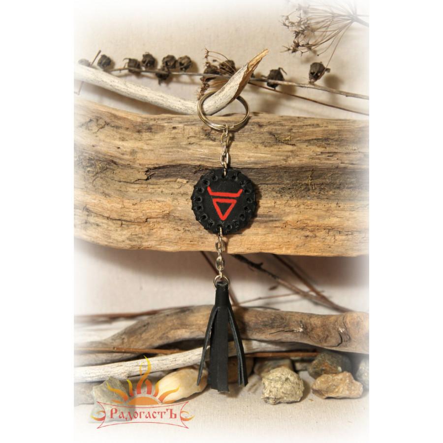 Кожаный брелок «Символ Велеса»