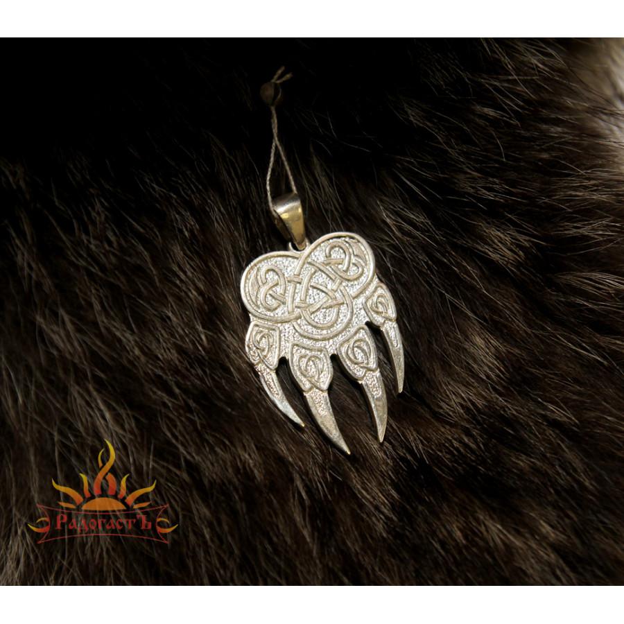 Большой серебряный кулон «Медведь»