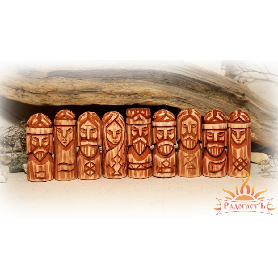 Карманный красный круг славянских богов (9 кумиров)