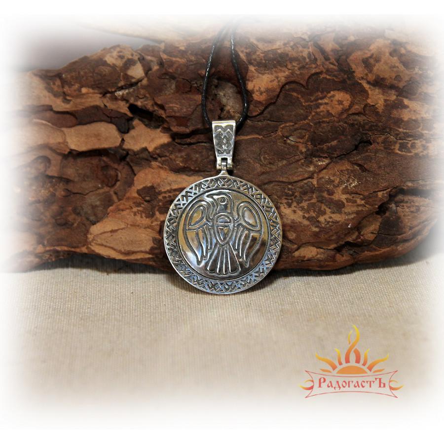 Кулон из серебра «Сокол» с Коловратом