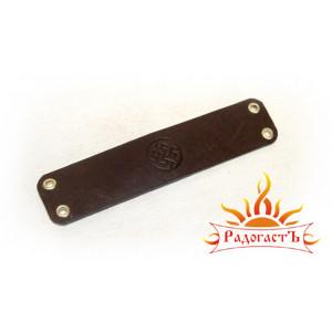 Кожаный браслет «Папоротник»